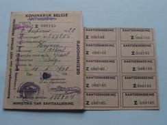 RANTSOENERINGSKAART Voor NIET EETBARE Producten > Antwerpen ( Zie Foto's Voor Detail AUB ) ! - Cachets Généralité
