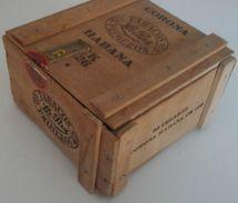 Boîte à Cigares En Bois CORONA HABANA - Tabacos La Paz Primeros - Boites à Tabac Vides