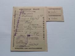 RANTSOENERINGSKAART Voor NIET EETBARE Producten KOLEN > Antwerpen ( Zie Foto's Voor Detail AUB ) ! - Cachets Généralité