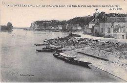 MONTJEAN - Bords  Loire - Vue Prise Du Pont Suspendu Vers Les Fours à CHAUX - Francia