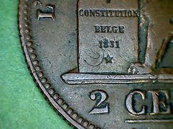 Leopold I, 2 Centimes 1836 FR Sporen Van Hollandse Cent / Trace De Cent Hollandaise - 1831-1865: Léopoldo I