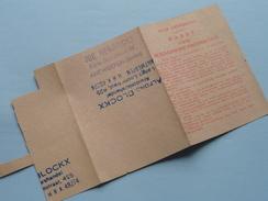 KAART Voor SCHAARSCHE Produkten > Antwerpen ( Zie Foto's Voor Detail AUB ) ! - Cachets Généralité