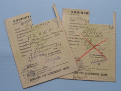 1942 - 43 Rantsoeneeringskaart > Antwerpen ( Zie Foto's Voor Detail AUB ) ! - Seals Of Generality