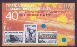 TAAF 1995 40ème Anniversaire De La Creation Du Territoire M/s ** Mnh (37020) - Blokken & Velletjes