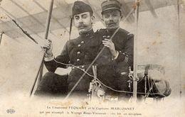 Le Lieutenant Féquant Et Le Capitaine Marconnet  -  Le Voyage Bouy-Vincennes   -  CPA - Aviatori