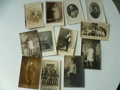 LOT 12 CARTE PHOTO PERSONNAGE - Personnes Anonymes