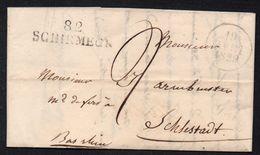 """MARQUE POSTALE """"82 SCHIRMECK"""" - ALSACE - VOSGES / 1829 LAC POUR SELESTAT / COTE 180.00 € (ref 7671) - Alsace-Lorraine"""