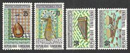 TUNISIA 1970 MUSIC MUSICAL INSTRUMENTS SET MNH - Tunisia
