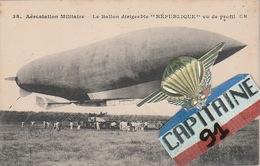 AEROSTATION MILITAIRE LE BALLON DIRIGEABLE REPUBLIQUE VU DE PROFIL - Matériel