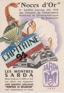 CPA PUBLICITE MONTRES SARDA 21 AVENUE CARNOT BESANÇON  DOUBS - Negozi