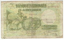 BELGIUM/BELGIQUE/BELGÏE - Billet De 50 FRANC OU 10 BELGAS - 13-05-1938 - 50 Francs-10 Belgas