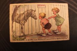 X1 - ILLUSTRATEUR -  J. LAGARDE - ZOO  ZEBRE - Celui La Il A Du Se Frotter Aux Barreaux Quand On A Repeint Sa Cage - Other Illustrators