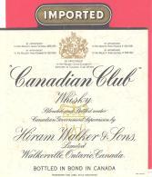 Canadian  Club  Hiram Walker & Sons  Walkerville Ontario Canada - Whisky