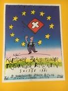 5524 -  Europa Wein Klettgauer Blauburgunder Trasadinger Beerliwein 1991 Suisse - Etiquettes
