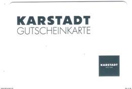 Germany - Karstadt - Geschenkgutschein - Giftcard - Gift Card - Gutschein Card - RAR !! - Gift Cards