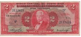 COSTA RICA   2  Colones   P235    Dated 5-12-1967   Circulated - Costa Rica