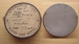 ISTRIA CROAZIA FIUME 1882 SCATOLETTA DELLA DITTA SCHENKER MADE IN HUNGARY UNGHERIA - Oggetti 'Ricordo Di'