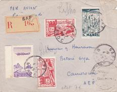 Lettre De Maroc 1945,scan R/V. - Maroc (1956-...)