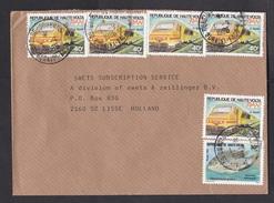 Upper Volta: Cover To Netherlands, 1986, 6 Stamps, RAN Train, Locomotive, Fish (1 Stamp Damaged) - Opper-Volta (1958-1984)