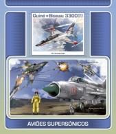 Guinea Bissau 2017 Space Supersonic Aircraft - Guinea-Bissau