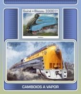 Guinea Bissau 2017 Steam Trains - Guinea-Bissau