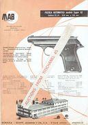 Publicité De La MAB  Espanola ECHASA EIBAR (ESPANA) - Pistolet MAB Super GZ Calibre 22 L.R. - 6,35 Mm & 7,65 Mm - Armes Neutralisées