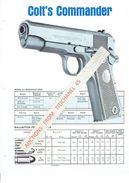 Publicité Originale COLT'S COMMANDER Automatic Model 9 Mm Luger - COLT INDUSTRIES HARTFORD, CONNECTICUT - Decotatieve Wapens