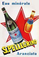 Eau Minérale S.Pellegrino Aranciata 1960 - Postcard - Poster Reproduction - Publicité
