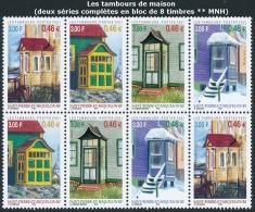 ST-PIERRE ET MIQUELON 2001 - Yv. 746 à 749 En 2 Ex ** TB  Faciale= 3,68 EUR - Tambours De Maison  ..Réf.SPM11234 - Neufs