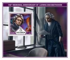 SOLOMON ISLANDS 2017 Music Ludwig Van Beethoven - Solomon Islands (1978-...)