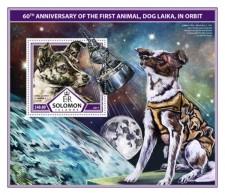 SOLOMON ISLANDS 2017 Space First Animal In Orbit - Solomon Islands (1978-...)