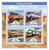 SOLOMON ISLANDS 2017 Australian Trains - Solomon Islands (1978-...)