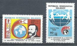 Madagascar YT N°892/893 Croix-Rouge Et Croissant Rouge Neuf ** - Madagascar (1960-...)