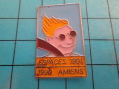 Pin710F Pin's Pins : Rare Et Belle Qualité : VILLES / AMIENS ESPACES 1901 1990 - Cities
