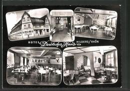 AK Hilders / Rhön, Hotel Deutsches Haus, Innenansicht - Rhoen