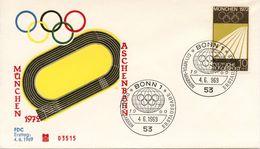 GERMANY 1969 Olympic Games - Munich, Germany     FDC347 - [7] Federal Republic