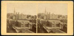 Edinburgh, Stereo-Foto, National Galleries, And Free Church College, - Schottland