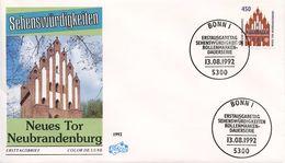GERMANY 1992 The Town Gate In Neubrandenburg   FDC349 - [7] West-Duitsland