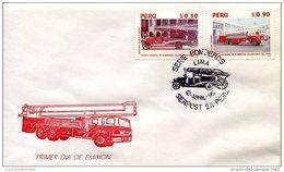 11497 Peru    Fdc  1995 Bombeiro,  Sapeur Pompiers - Firefighters - Sapeurs-Pompiers