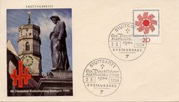 GERMANY - 1964 The 80th Anniversary Of The German Day Of Catholism  FDC351 - [7] République Fédérale