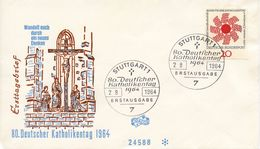 GERMANY - 1964 The 80th Anniversary Of The German Day Of Catholism  FDC355 - [7] République Fédérale