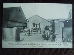 Le Havre ,  197 Rue Demidoff , Chantiers Et Scieries E . Deveaux Et Fils , Entrée Principale - Autres