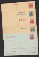 Belgien, 5 Versch. Ganzsachen, Dabei Doppelkarte, * - Besetzungen 1914-18