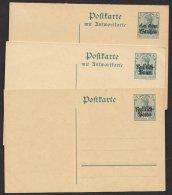 Polen, 3 Versch. Ganzsachen, Dabei 2 Doppelkarten, * - Besetzungen 1914-18