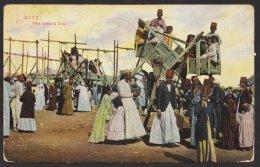 """Marineschiffspost, Farb. AK """"Suez"""", Klar """"Marineschiffspost Nr. 4"""", 17.3.11, Leider Marke Entfernt, Brief - Besetzungen 1914-18"""