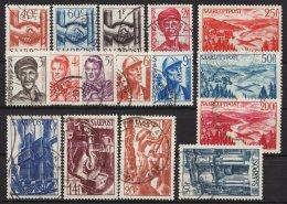 """""""Wiederaufbau"""", 1948, Komplett Mit Flugpost, Bedarfssatz, 239/54, O - 1947-56 Allierte Besetzung"""