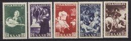 """""""Volkshilfe"""", 1951, Kleiner Falzrest, 313 **, 309/13 - 1947-56 Allierte Besetzung"""
