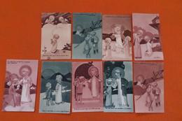 LOT DE 9 PETITES IMAGES PIEUSES ENFANTS - Images Religieuses