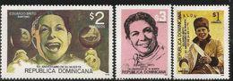 1996 Dominican Republic Dominicana Brito Music Singer  Complete Set Of 3  MNH - Repubblica Domenicana