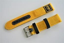 Watches BANDS : MINOTT Sport-Watch - 20mm - Yellow - Original - Stainless Steel Buckle - New - Bijoux & Horlogerie